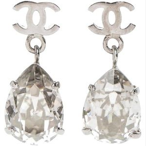 Chanel Teardrop Earrings in Box